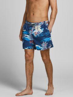 Modré vzorované plavky Jack & Jones Bali