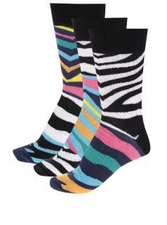 Sada tří unisex zebrovaných ponožek Oddsocks Josh