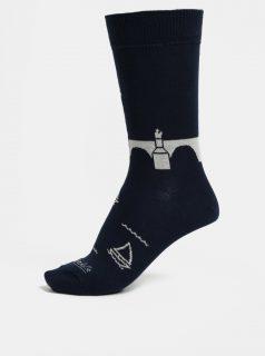 Tmavě modré unisex ponožky Fusakle Karlův most