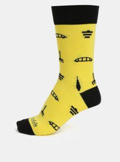 Žluté unisex ponožky