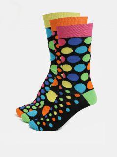 Sada tří unisex vzorovaných ponožek v černé barvě Oddsocks Jack