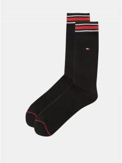 Sada dvou párů pánských ponožek v černé barvě s pruhy Tommy Hilfiger