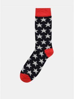 Červeno-modré pánské ponožky s motivem hvězd ZOOT