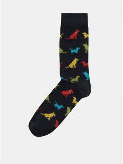 Tmavě modré pánské ponožky s motivem psů ZOOT