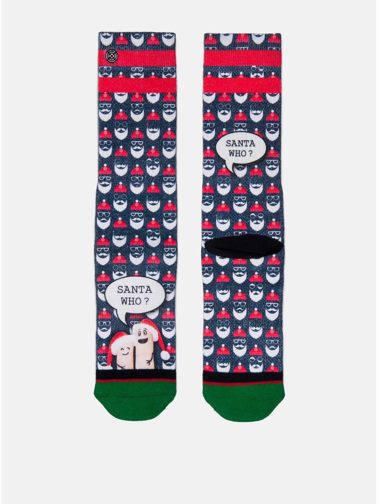 Červeno-modré pánské ponožky s motivem Santa Clause XPOOOS - Pánské ponožky 375797b9fc