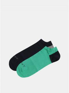 Sada dvou párů zelených a modrých nízkých ponožek GANT