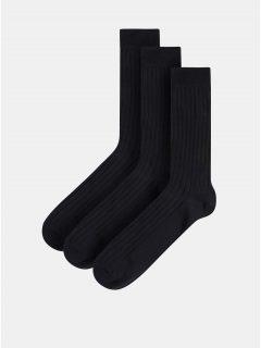 Sada tří párů černých ponožek Selected Homme Pete