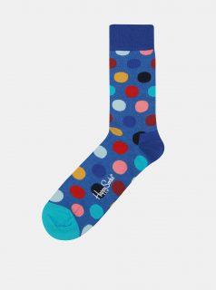 Modré unisex puntíkované ponožky Happy Socks Big Dot