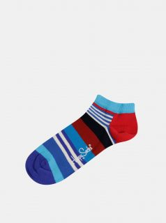 Modré pruhované ponožky Happy Socks
