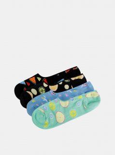 Sada čtyř párů barevných nízkých ponožek Jack & Jones Fruit