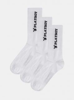 Sada tří párů bílých ponožek Jack & Jones Playboy