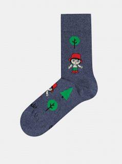 Tmavě modré vzorované ponožky Fusakle Rumcajz