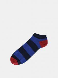 Modré pruhované ponožky Jack & Jones Fast