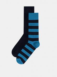 Sada dvou párů pánských ponožek v modré barvě GANT
