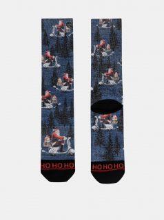 Modré pánské ponožky s vánočním motivem XPOOOS