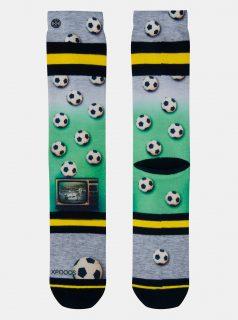 Zeleno-šedé pánské ponožky XPOOOS