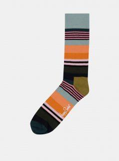 Modro-oranžové ponožky Happy Socks Multi Stripe