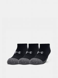 Sada tří párů černých ponožek Heatgear Under Armour
