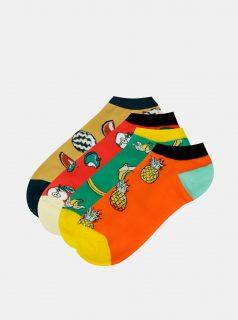 Sada čtyř párů ponožek v oranžové, červené a zelené barvě Jack & Jones Good Food