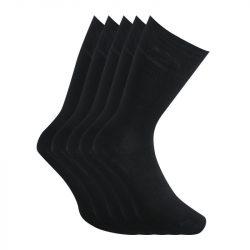 5PACK ponožky Styx vysoké bambusové černé