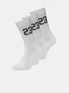 Sada tří párů bílých ponožek Jack & Jones Core