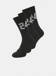 Sada tří párů černých ponožek Jack & Jones Core