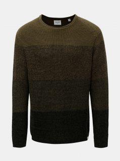Khaki žíhaný svetr s pruhy ONLY & SONS Sato