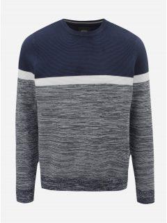 Bílo-modrý žíhaný svetr Burton Menswear London