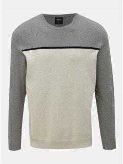 Šedo-krémový lehký svetr Burton Menswear London