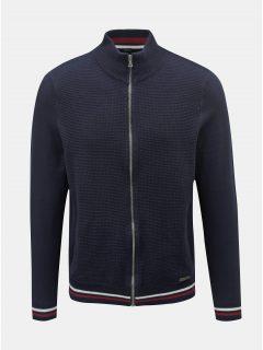 Tmavě modrý svetr na zip Burton Menswear London