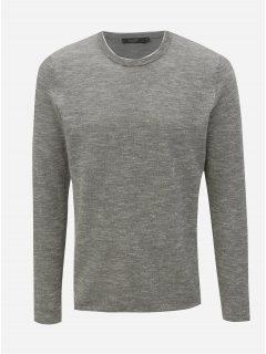 Světle šedý žíhaný lehký svetr Jack & Jones Joel