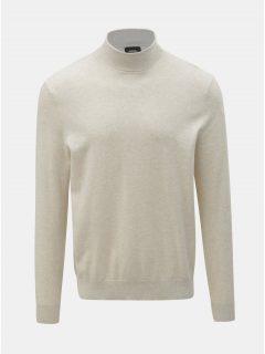 Krémový svetr s rolákem Burton Menswear London