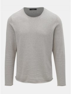 Světle šedý lněný svetr Jack & Jones Linen
