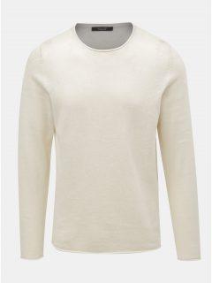 Krémový lněný svetr Jack & Jones Linen