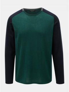 Tmavě zelený lehký svetr z Merino vlny Selected Homme Thom