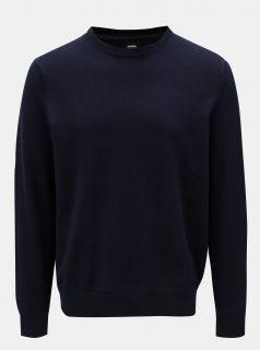 Tmavě modrý basic svetr Burton Menswear London