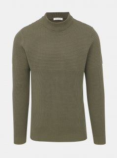 Khaki svetr Selected Homme Bubble