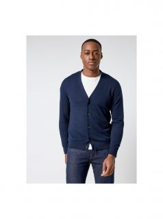 Tmavě modrý basic kardigan Burton Menswear London
