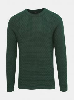 Tmavě zelený svetr Selected Homme Kent