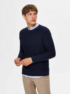 Tmavě modrý svetr Selected Homme-Conrad