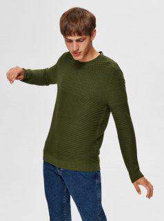 Zelený svetr Selected Homme-Conrad