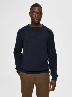 Tmavě modrý svetr Selected Homme-Irving