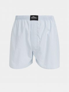 Bílo-modré pánské pruhované trenýrky ELKA Underwear