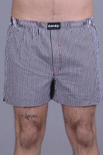 Emes pánské černo-bílé trenýrky s proužky