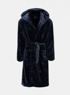 Tmavě modrý župan s kapucí Burton Menswear London Core