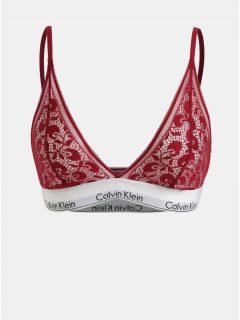 Červená krajková podprsenka Calvin Klein