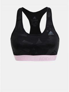 Černá vzorovaná sportovní podprsenka adidas Performance Drst Ask