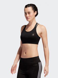 Černá sportovní podprsenka s potiskem adidas CORE