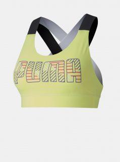 Žlutá sportovní podprsenka Puma
