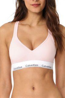 Calvin Klein světle růžová podprsenka Lightly Lined Bralette LIFT